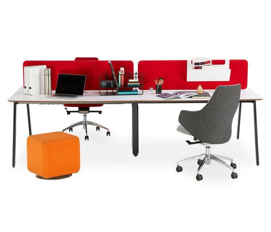 Office A System de B&T Design | Cloisons pour table