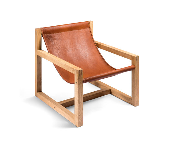 Lounger M1 | Organic Buffalo Leather di Manufakturplus | Poltrone
