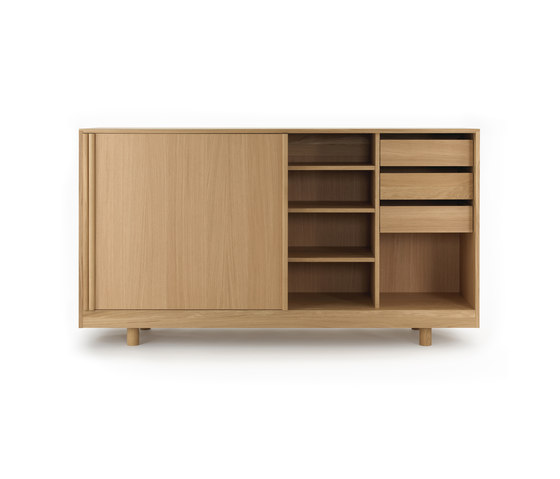 Sideboard with Sliding Doors Natural Oak de Bautier | Aparadores
