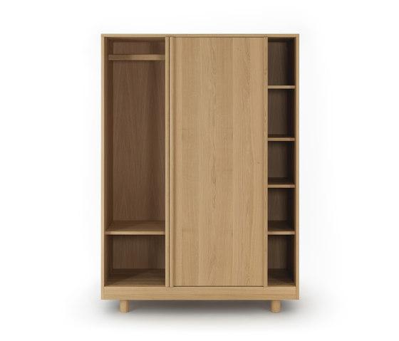 Wardrobe with Sliding Doors Natural Oak de Bautier | Armarios