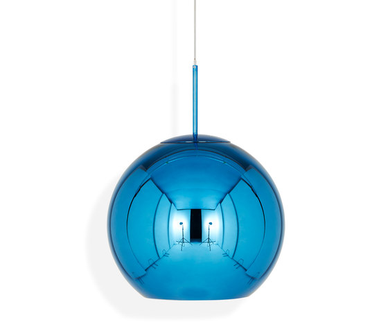 Copper Round Pendant 45cm Blue by Tom Dixon | Suspended lights