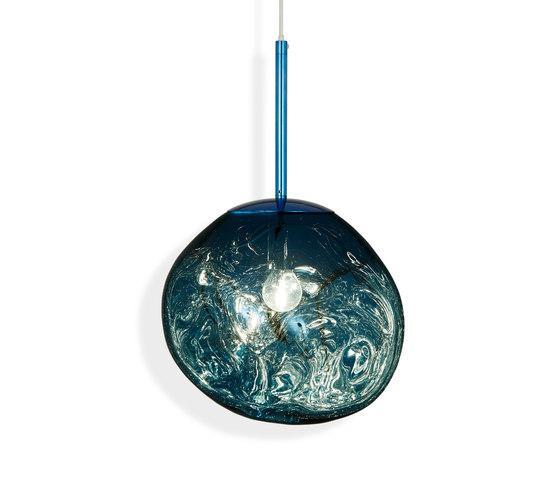 Melt Mini Pendant Blue by Tom Dixon | Suspended lights