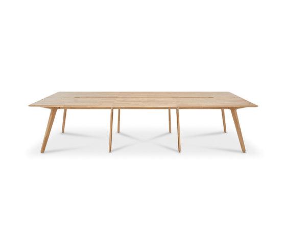 Slab Desk 6-Person Large Natural Oak di Tom Dixon | Tavoli pranzo