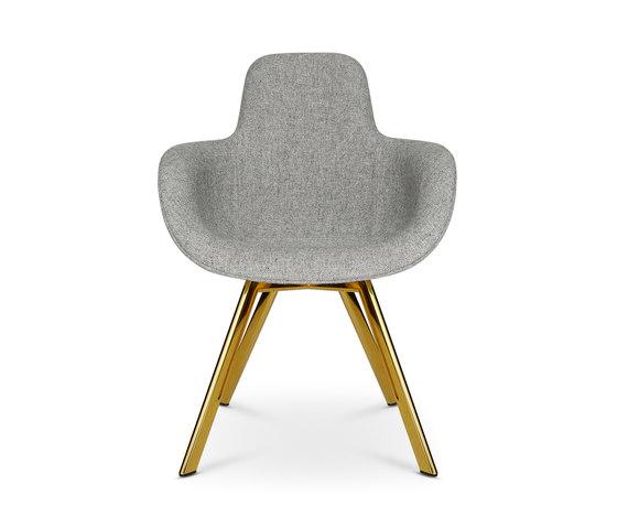 Scoop Chair High Back Brass Leg de Tom Dixon | Sillas