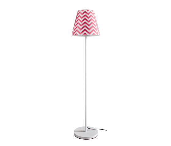 Swap | with Rose-pink chevron shade by Moree | Outdoor free-standing lights