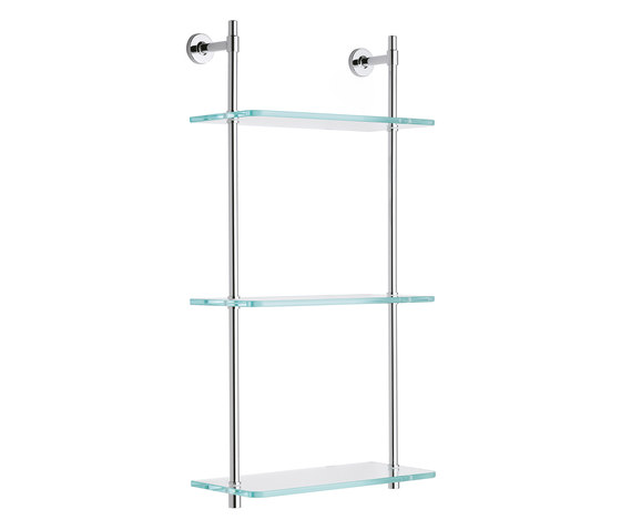 Koy | Wall Mounted Glass Shelf di BAGNODESIGN | Mensole / supporti mensole