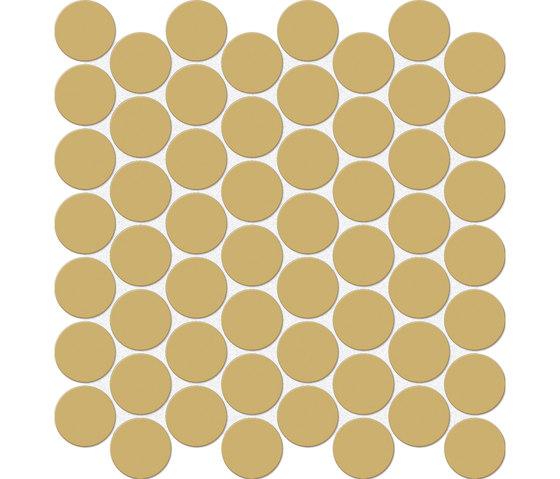 Bold | Mustard Tess. Round von Marca Corona | Keramik Mosaike