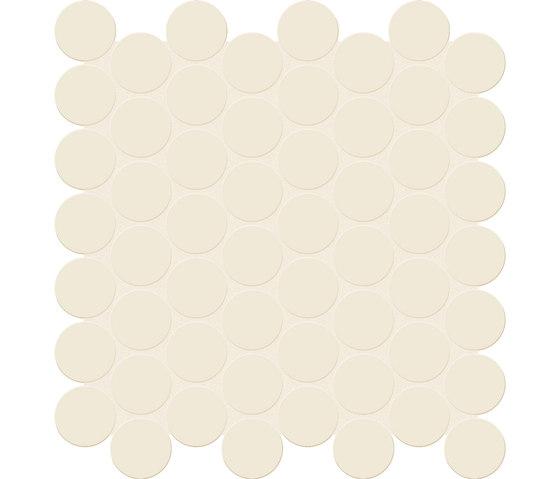 Bold | White Tess. Round von Marca Corona | Keramik Mosaike