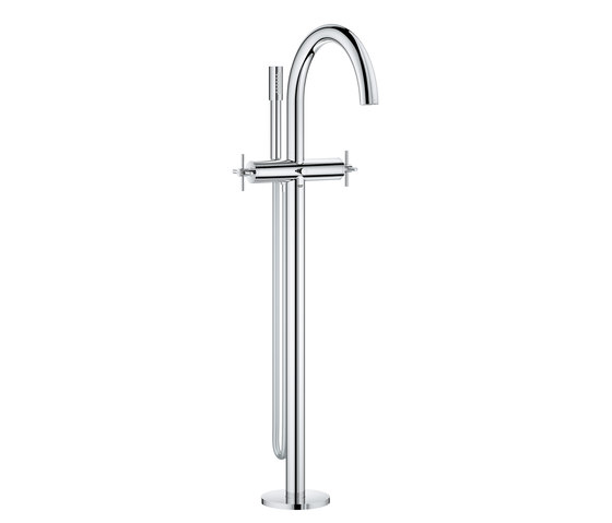 "Atrio Bath mixer 1/2"" floor-mounted installation cross handle by GROHE   Bath taps"