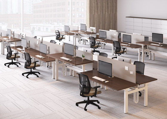 Alloy Desk de National Office Furniture | Mesas contract