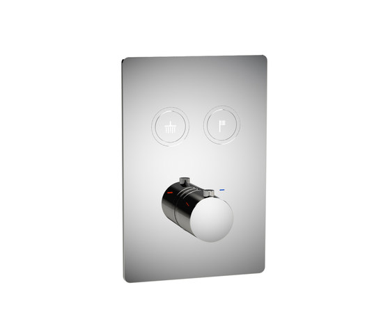 Toko | Round Thermostatic 2 Outlet Shower Mixer by BAGNODESIGN | Shower controls