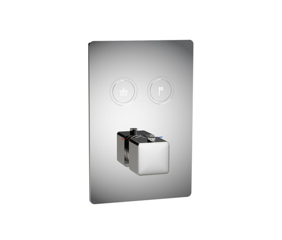 Toko | Square 2 Outlet Thermostatic Shower Mixer by BAGNODESIGN | Shower controls