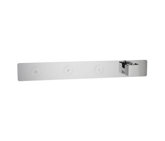 Toko | Square Horizontal Thermostatic Shower Mixer 3 Outlet by BAGNODESIGN | Shower controls