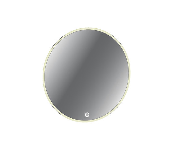 Urban   Round Illuminated LED Mirror with Back Lighting by BAGNODESIGN   Bath mirrors