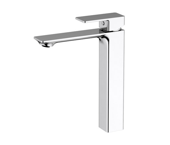 Zephyr | Mono Smooth Bodied Tall Basin Mixer by BAGNODESIGN | Wash basin taps