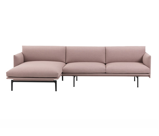 Outline Sofa | Chaise Longue - Left by Muuto | Sofas