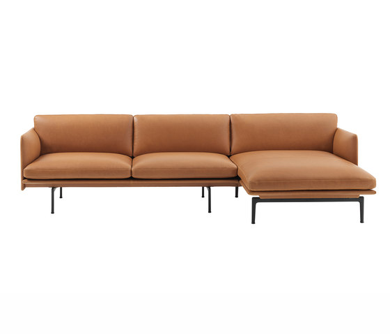 Outline Sofa Chaise Longue Right Sofas From Muuto