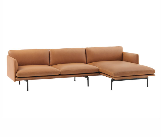 Outline Sofa | Chaise Longue - Right by Muuto | Sofas