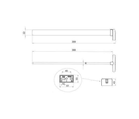 Chic 14 Towel holder single arm by Bodenschatz | Towel rails