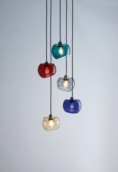 Glass Moons 5 Fall by Licht im Raum | Suspended lights