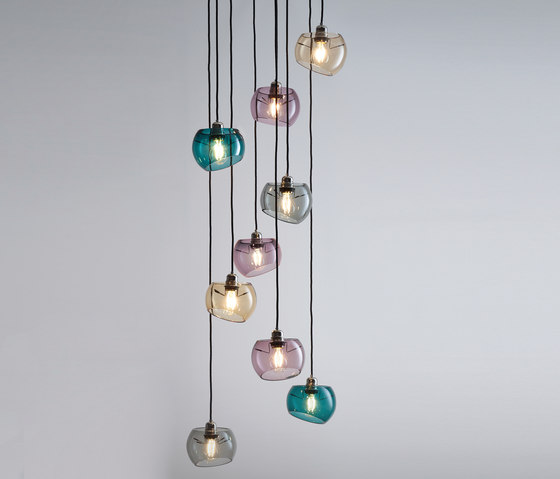 Glass Moons 9 Spring by Licht im Raum | Suspended lights
