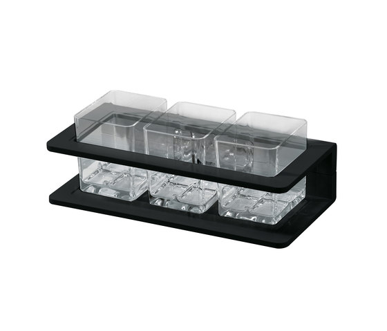 Creativa Glass holder, triple by Bodenschatz | Toothbrush holders