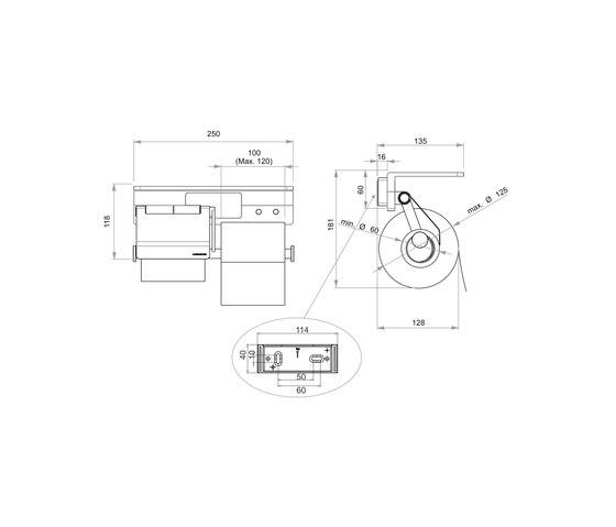 Creativa Toilet paper holder by Bodenschatz | Paper roll holders