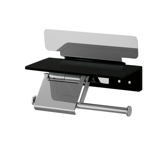Creativa Toilet paper holder with magazine rack by Bodenschatz | Paper roll holders