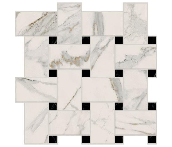 Motif Extra | Calacatta Gold Tess.Treccia Reflex by Marca Corona | Ceramic tiles