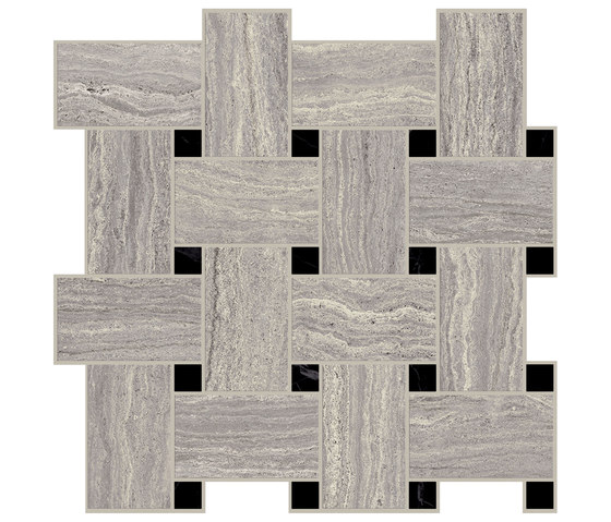 Motif Extra | Travertino Silver Tess.Treccia Reflex by Marca Corona | Ceramic tiles