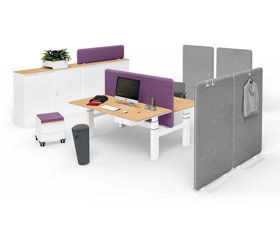 Winea Sonic | Freestanding panel by WINI Büromöbel | Space dividing systems