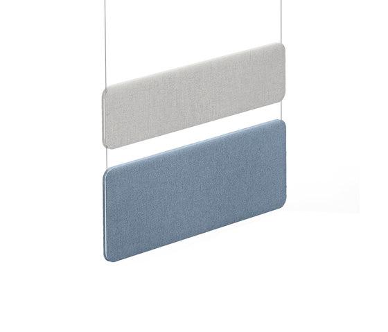 Winea Sonic | Panneau acoustique suspendu au plafond de WINI Büromöbel | Suspensions acoustiques