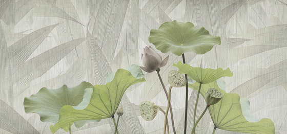 textile | white lotus by N.O.W. Edizioni | Wall art / Murals