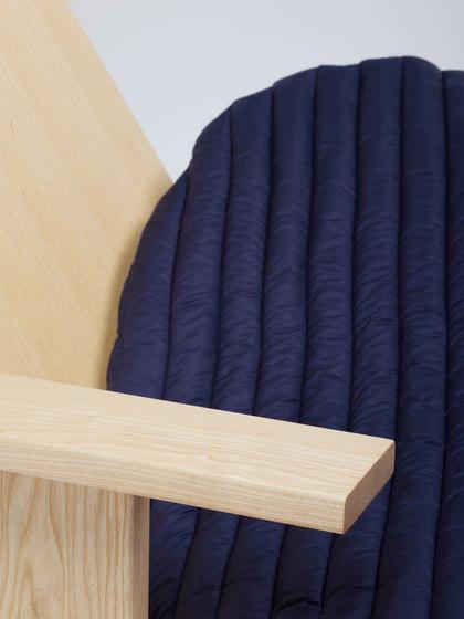 Quindici Chaise Longue with Pillow blue | MC15 by Mattiazzi | Chaise longues