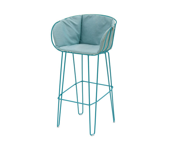 Olivo High Stool upholstered de iSimar | Taburetes de bar