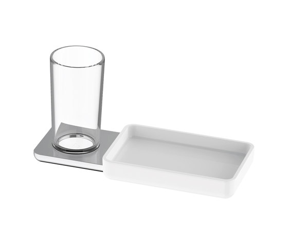 Liv Glass holder and storage dish by Bodenschatz | Bath shelves