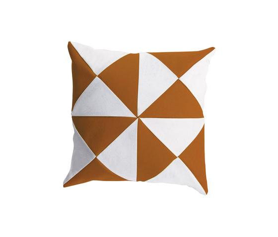 Cushions | Triangle Tawny/White by EGO Paris | Cushions