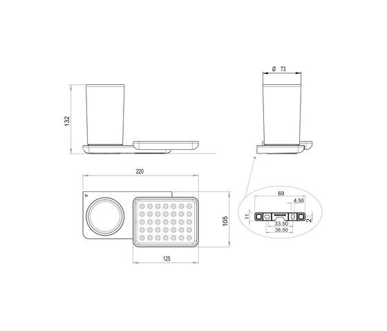Liv Hygiene/utensils box + soap dish by Bodenschatz | Soap holders / dishes