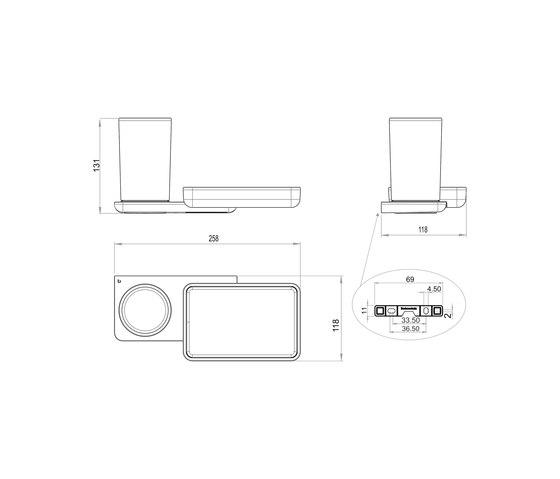 Liv Hygiene/utensils box + storage dish by Bodenschatz | Bath shelves