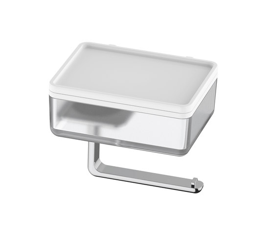 Liv toilet paper holder and wet wipes/utensils box by Bodenschatz | Paper towel dispensers