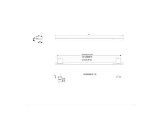 Nia Towel rail by Bodenschatz   Towel rails