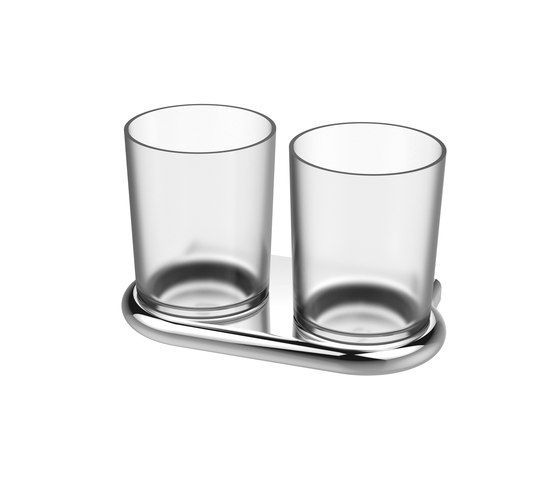 Nia Double glass holder by Bodenschatz | Toothbrush holders