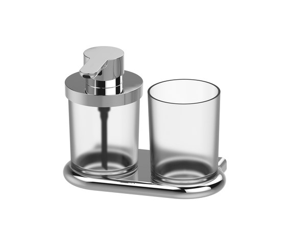 Nia Soap dispenser and glass holder by Bodenschatz | Soap dispensers