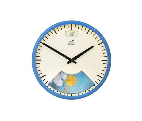 Weather Clock, Summer Blue Frame de Bramwell Brown Clocks | Relojes
