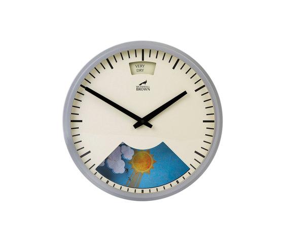 Weather Clock, Cloudy Grey Frame de Bramwell Brown Clocks | Relojes