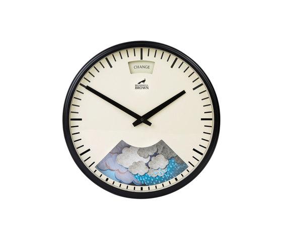 Weather Clock, Midnight Black Frame de Bramwell Brown Clocks | Relojes
