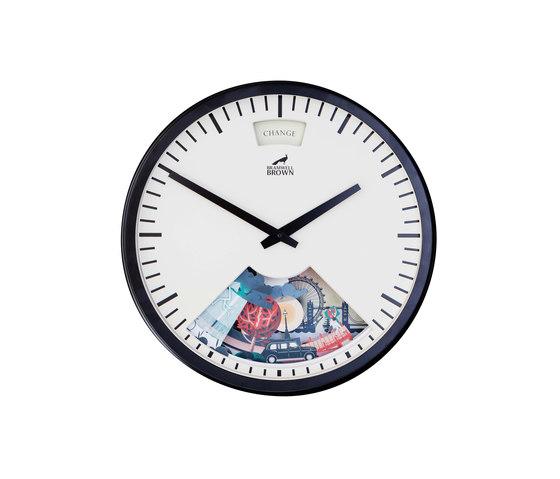 Limited Edition London Weather Clock, Midnight Black Frame by Bramwell Brown Clocks | Clocks