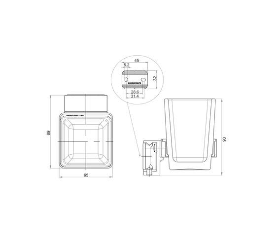 Simara Glass holder by Bodenschatz | Toothbrush holders