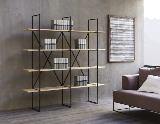 Slim Irony Bookcase by ZEUS | Shelving