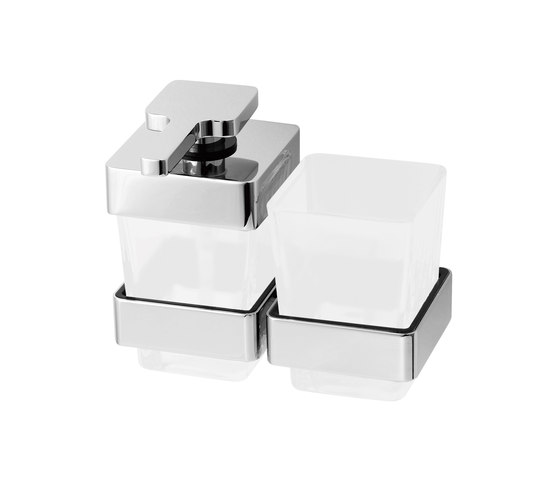Simara Combined soap dispenser and glass holder by Bodenschatz | Soap dispensers